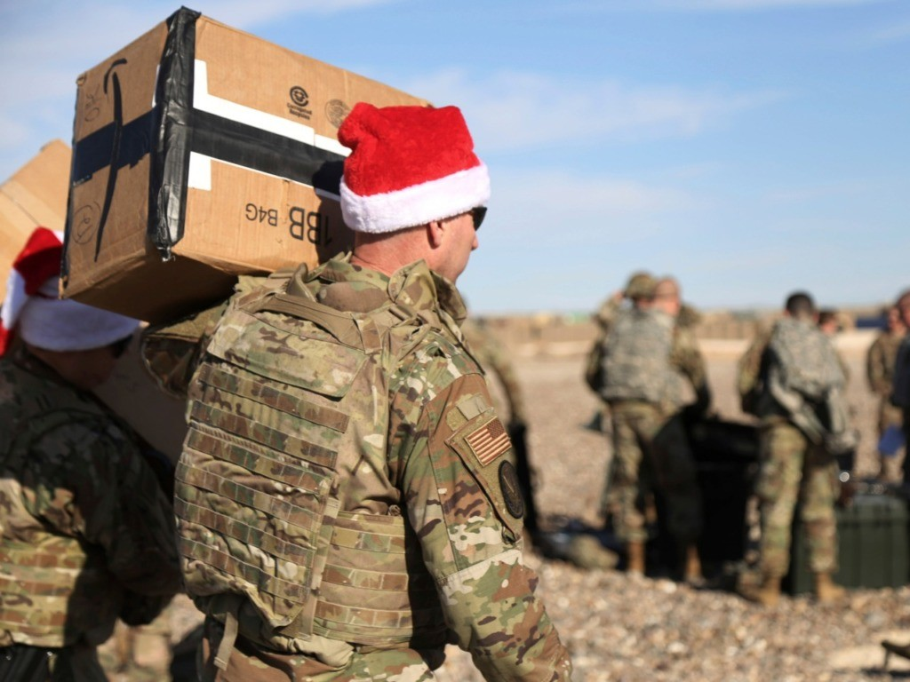 Watch: Operation Holiday Express Delivers Christmas Joy to U.S. Forces in Syria