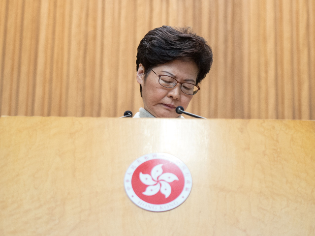 Hong Kong Leader Admits She Apologized to Losing Pro-China Council Candidates