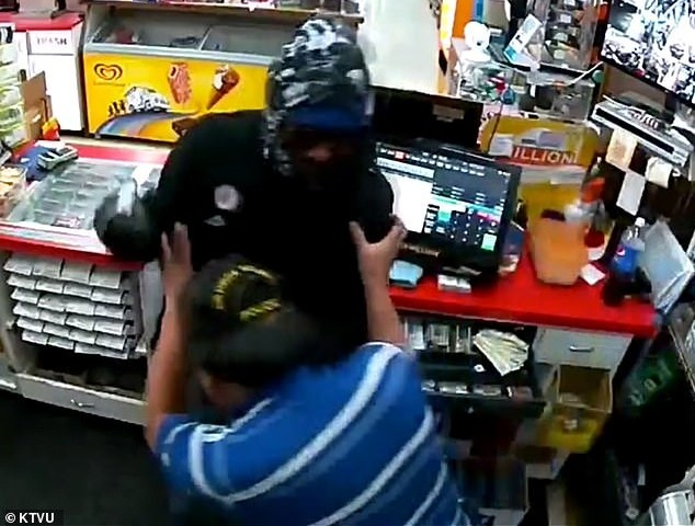 Watch: Suspect Allegedly Pistol Whips Store Clerk, Gets Shot Dead