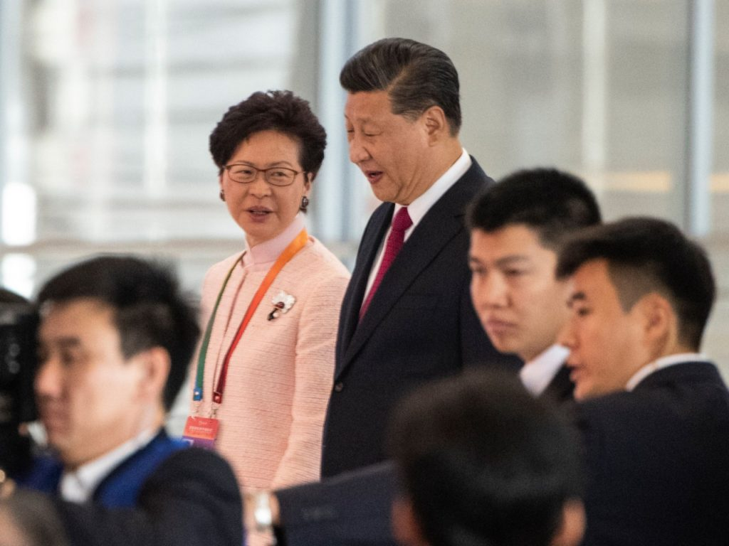 Xi Jinping Applauds Hong Kong Chief Carrie Lam's 'Courage' Through 'Grimmest' Year