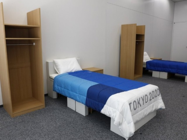 Amorous 2020 Olympic Athletes Beware, Recyclable Cardboard Beds Not for Threesomes