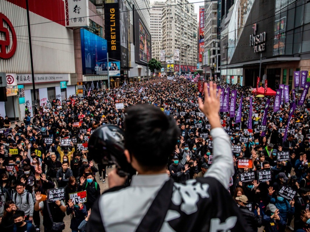 One Million People Attend Hong Kong New Year's Day Protest