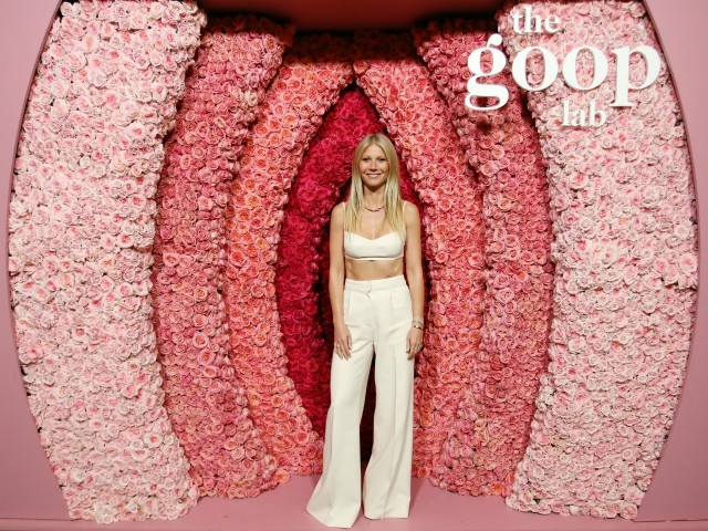 Gwyneth Paltrow Poses with 'Floral Vagina' at Goop Netflix Series Event