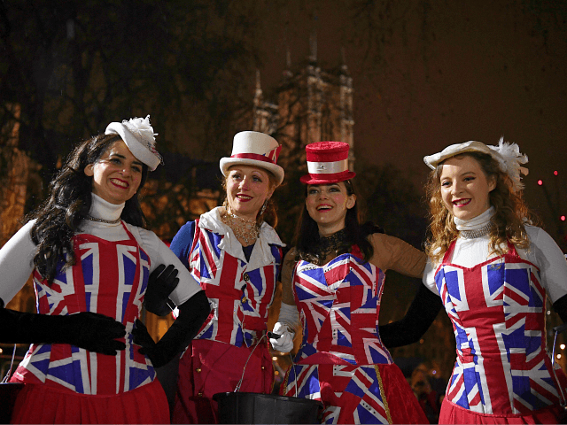 Pics: Jubilant Brexiteers and Mournful Remainers Descend on London to Mark Brexit Day