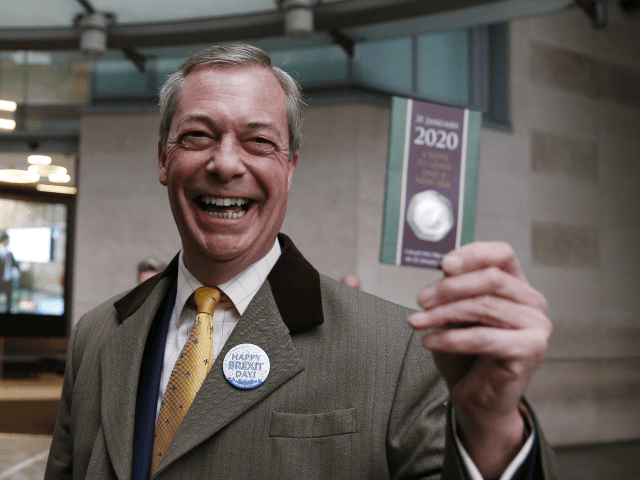 Farage Presented Trump with Commemorative Brexit Day Coin