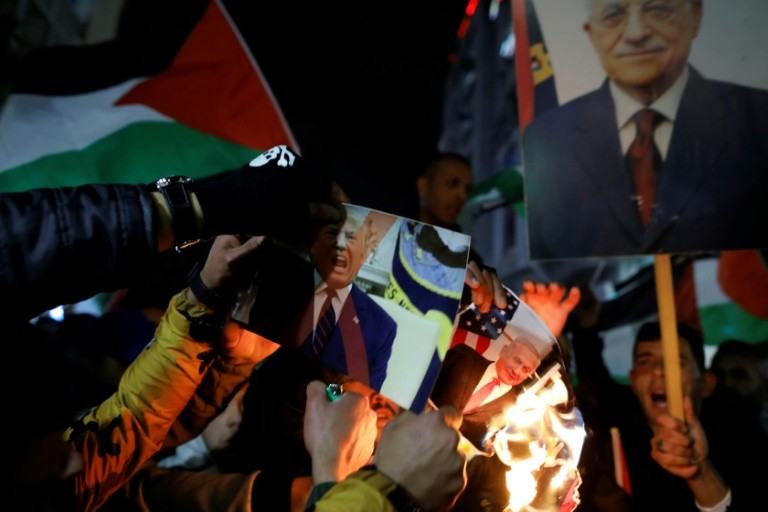 Thousands of Palestinians March in Protest at Trump Peace Plan