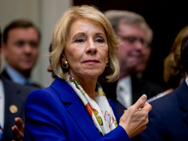 Betsy DeVos to Personally Fund Scholarship for SOTU Philadelphia Student