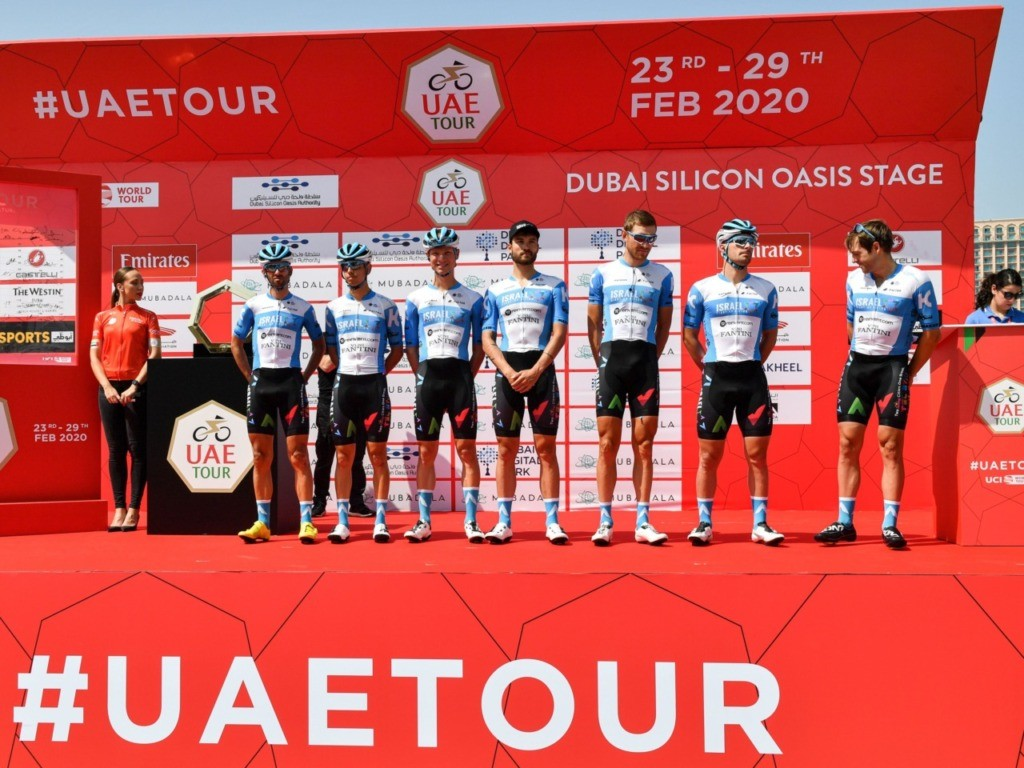 Israel Team Races in UAE Cycling Tour in Sporting Overture