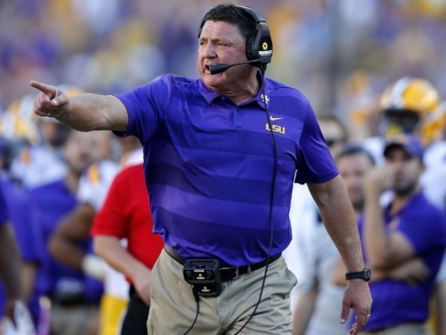 LSU Coach Ed Orgeron Appears on Billboard for State's Coronavirus Awareness Effort