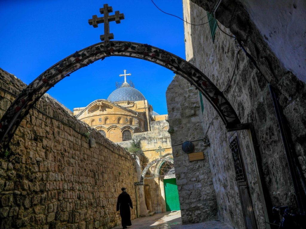 Pics: Muted Easter Sunday at Jerusalem's Church of the Holy Sepulchre