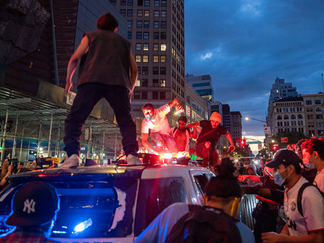 Protesters Set NYPD Cars Ablaze in Union Square