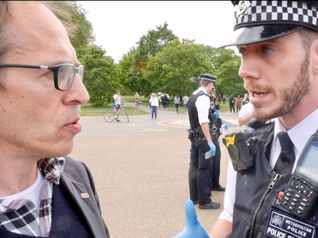 WATCH: Delingpole Confronted by Police at Anti-Lockdown Rally