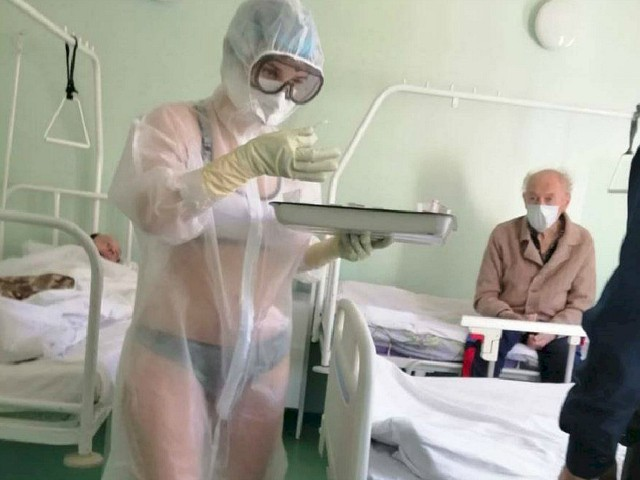 Russian Nurse Punished for Only Wearing Bikini Under PPE