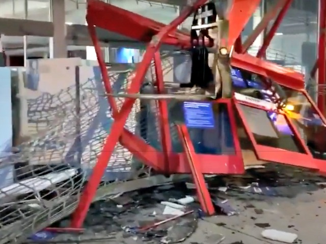 Watch: Rioters Use Forklifts to Smash into Best Buy in California During Daylight Hours
