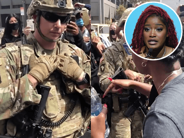 Video: Actress Keke Palmer Berates National Guardsmen Who Refuses to Leave His Post and Protest