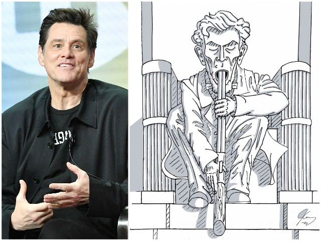 Jim Carrey Draws Abraham Lincoln Reacting to RNC with a Gun in His Mouth