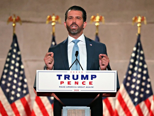 Exclusive – Don Jr. on RNC Message: 'Hope, American Dream' with Trump, 'Doom and Gloom' with Biden