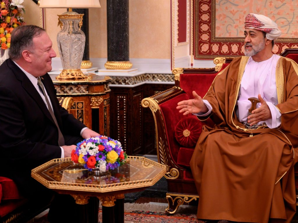 Pompeo Visits Oman in Final Stop on Middle East Swing