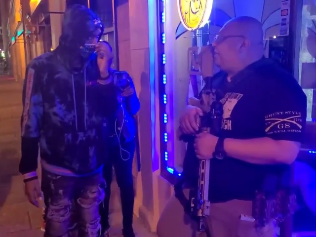 VIDEO: Protesters Pressure Armed Business Owner to Support BLM