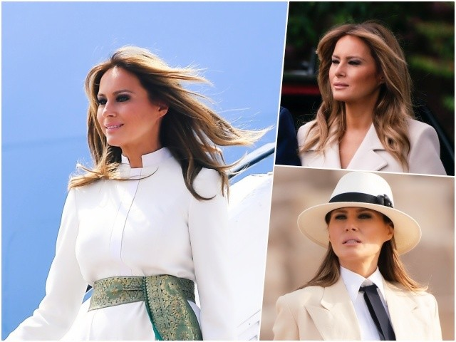Fashion Notes: Melania Trump's Best White Looks for Labor Day 2020