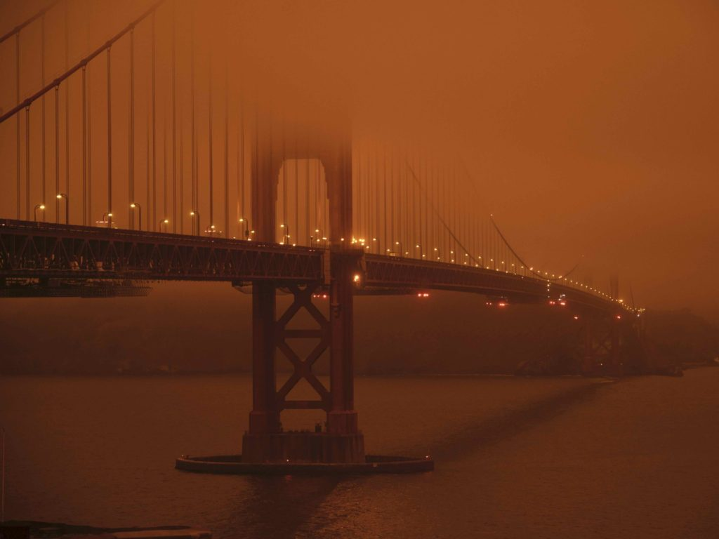Smoke From West Coast Wildfires Reaches East Coast Cities