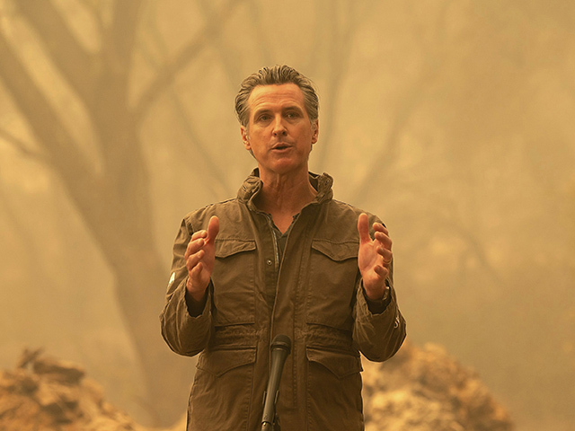 Gavin Newsom at Ash-Strewn Wildfire Site: 'The Debate Is Over Around Climate Change'