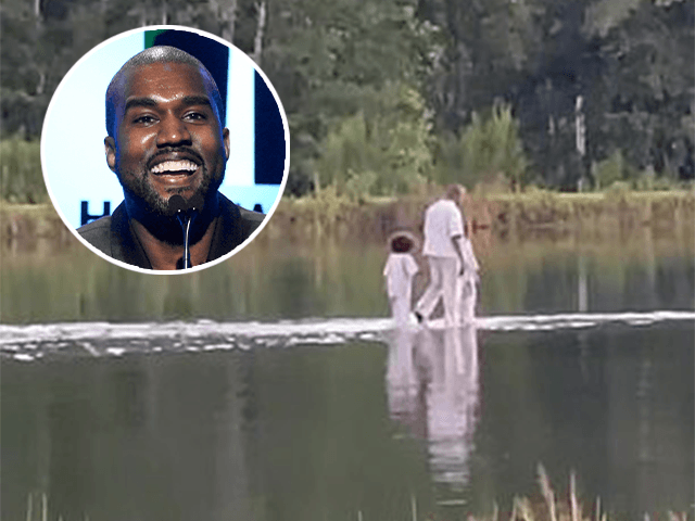 Watch: Kanye West 'Walks on Water' During Sunday Service as Joel Osteen Delivers Sermon