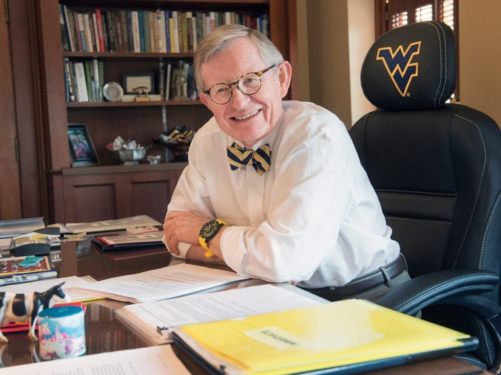 West Virginia U. President Gordon Gee Requires Students to Wear Masks - but Doesn't Wear One Himself