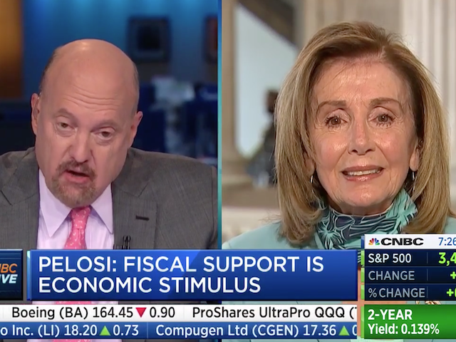 CNBC's Cramer Calls Pelosi 'Crazy Nancy'
