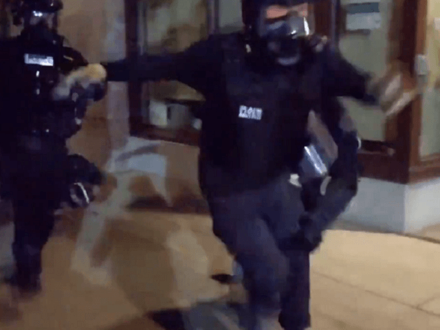 Watch: Police Tackle and Dogpile Portland Protester