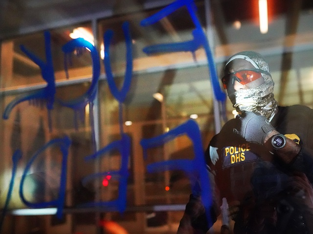 Watch: Police Attacked with Glass Bottles in Portland as Protesters Call Them 'Nazi Terrorists'