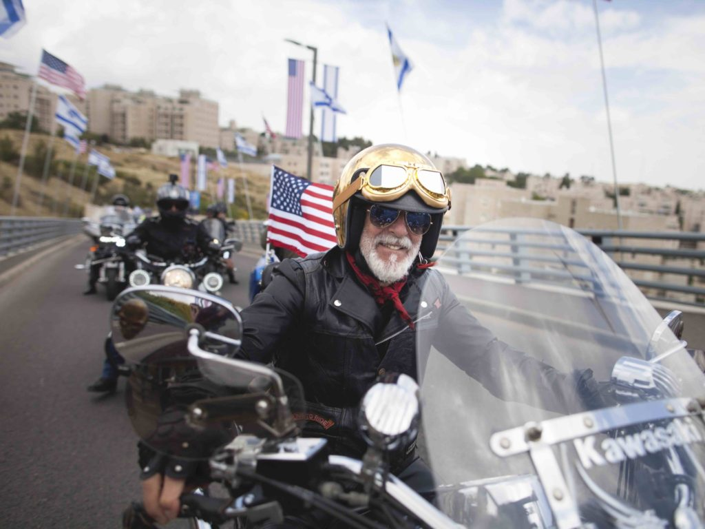 WATCH: Bikers Rally for Trump in Jerusalem's Old City