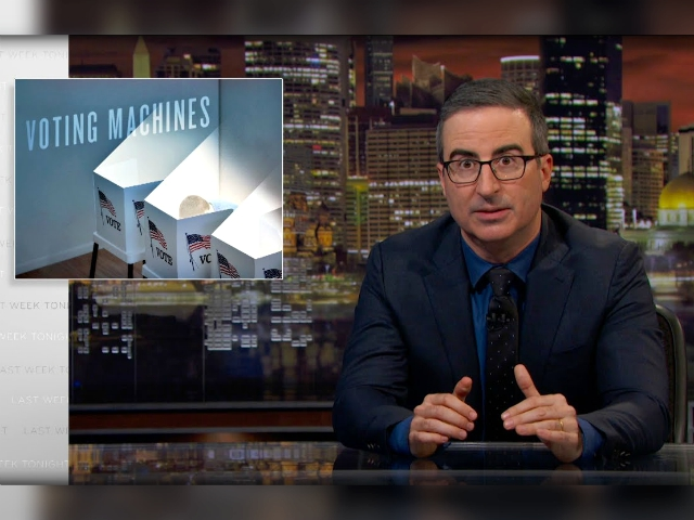 HBO's John Oliver Called It 'Completely Insane' to Use Electronic Voting Machines in Nov. 2019
