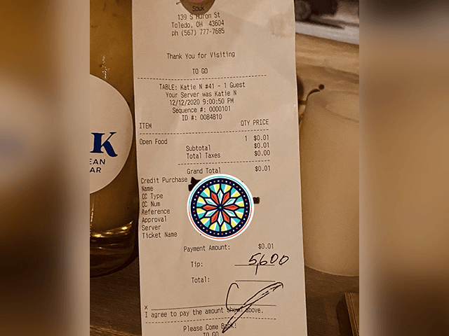 Customer at Ohio Restaurant Leaves $5,600 Tip in Time for Christmas