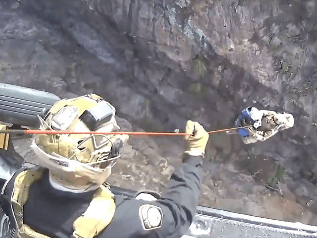 WATCH: CBP Aircrew, Border Patrol Rescue 2 Migrants from Canyon in Arizona Desert