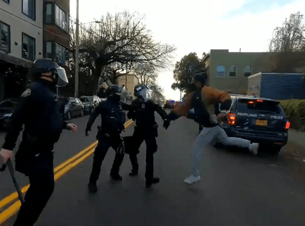 WATCH: Eviction Protesters Attack Portland Police, Set Up 'Autonomous Zone'
