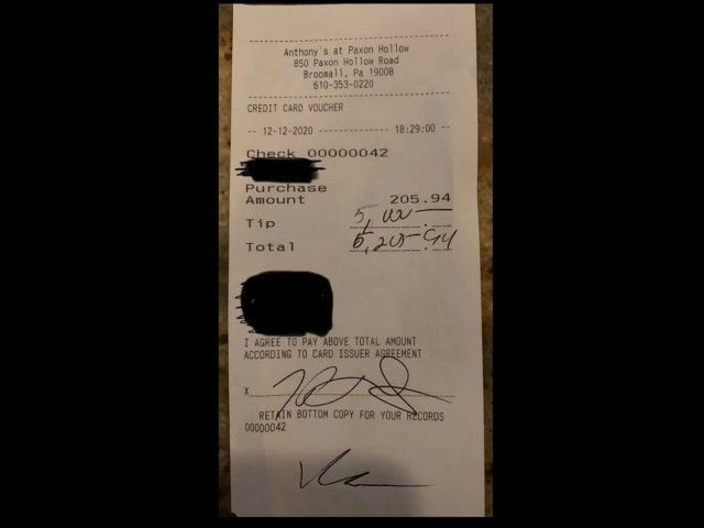 Waitress Receives $5,000 Tip on $200 Bill, Says It Will Fund Nursing Degree