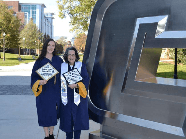 74-Year-Old Grandmother Graduates College with Granddaughter