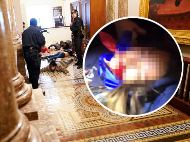 GRAPHIC VIDEO: Woman Shot in the Neck Inside Capitol Building
