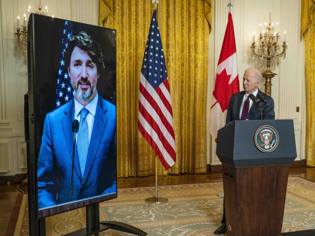 U.S. President Joe Biden and Canadian Prime Minister Justin Trudeau released a