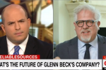 Glenn Beck walks out of tense CNN interview before Brian Stelter asks why his company was 'imploding'