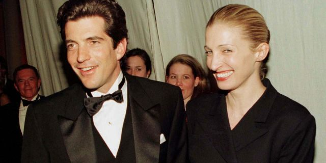 John F. Kennedy Jr. and his wife Carolyn Bessette.