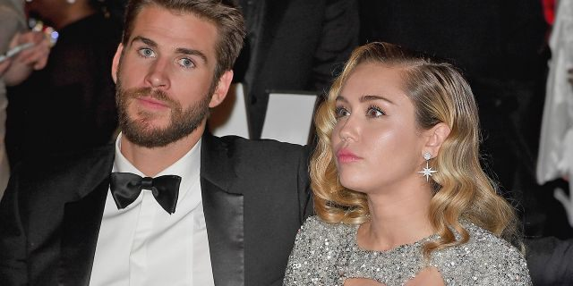 Liam Hemsworth, pictured here with Miley Cyrus in March 2018, filed for divorce on Wednesday. The pair married in December 2018 after a decade of on-again-off-again romance.