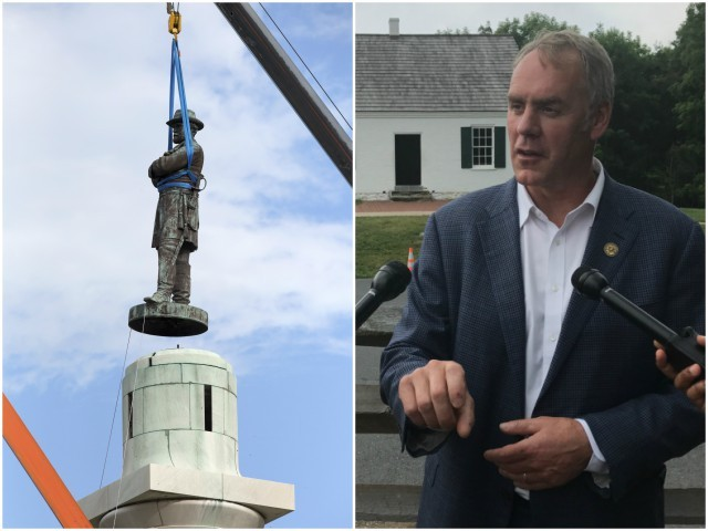 Ryan Zinke: Activists Shouldn't 'Rewrite History' by Removing Confederate Monuments