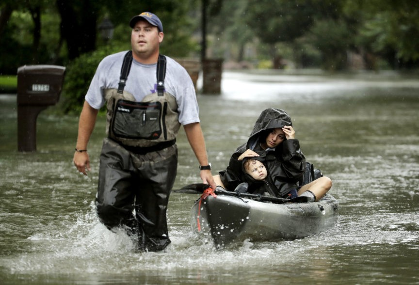 *** LIVE WIRE *** Catastrophic Floods Hit Houston, 'Harvey' Begins March Back to Gulf