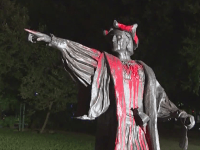 Vandals Apparently Deface Christopher Columbus Statue in Texas