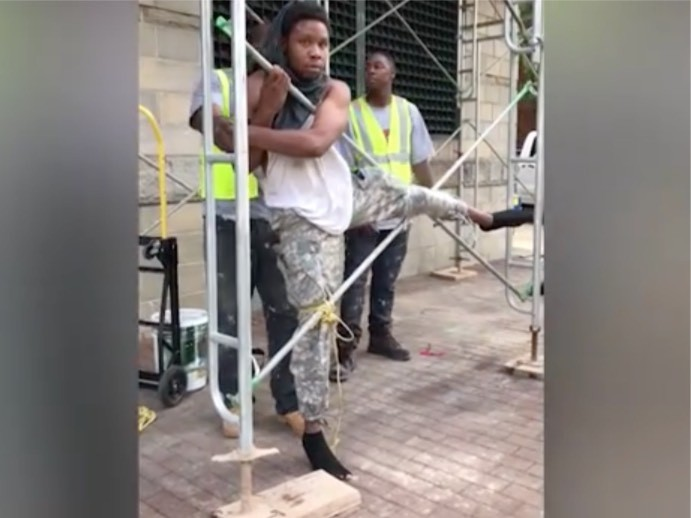 NC Construction Workers Catch Would-Be Thief, Tie Him to Scaffolding