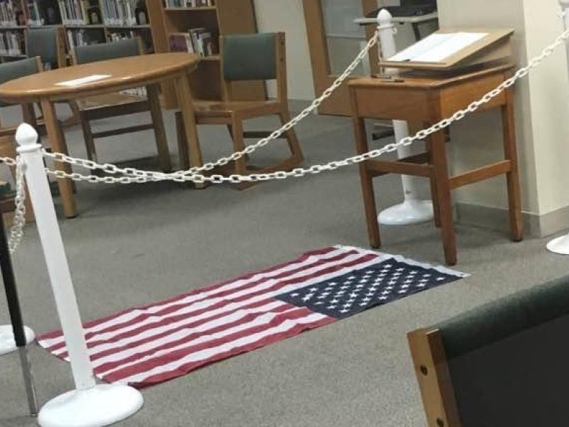 Illinois High School Under Fire for American Flag Displayed on the Ground