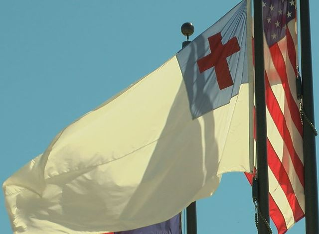 WATCH: Atheist Group Demands Texas School Remove Christian Flag