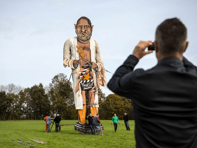 PICTURES: British Village Prepares to Burn 36-Foot Effigy of Harvey Weinstein